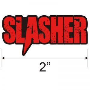slasher logo enamel pin